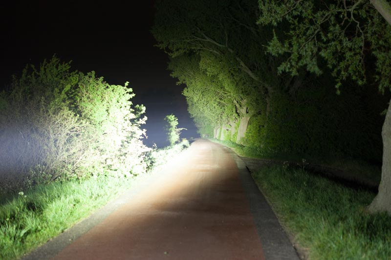 beamshot at night