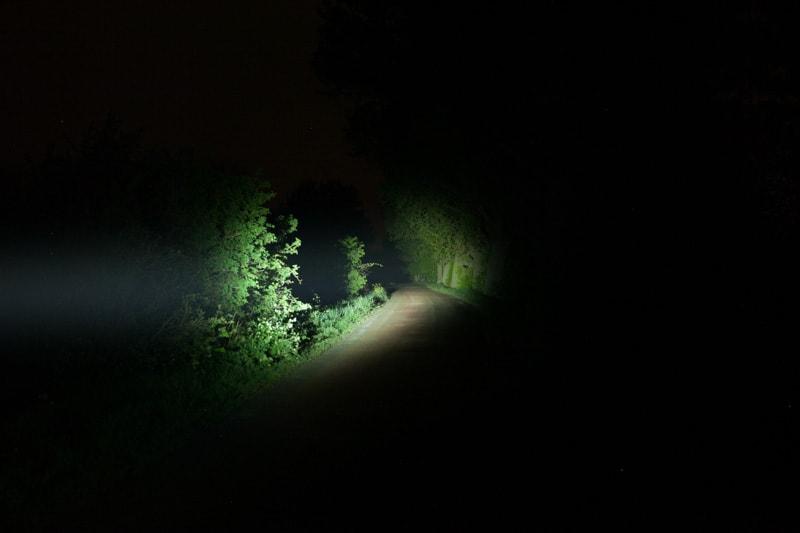 beamshot at night