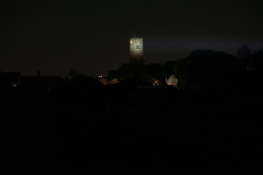 beamshots at night