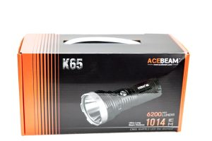 cardboard box of the acebeam led flashlight