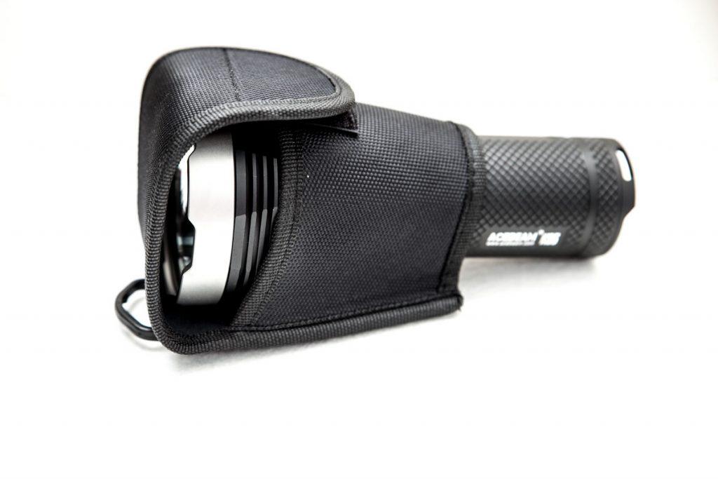 K65 LED flashlight inside holster