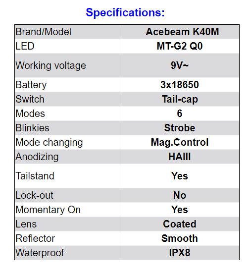 K40M specs