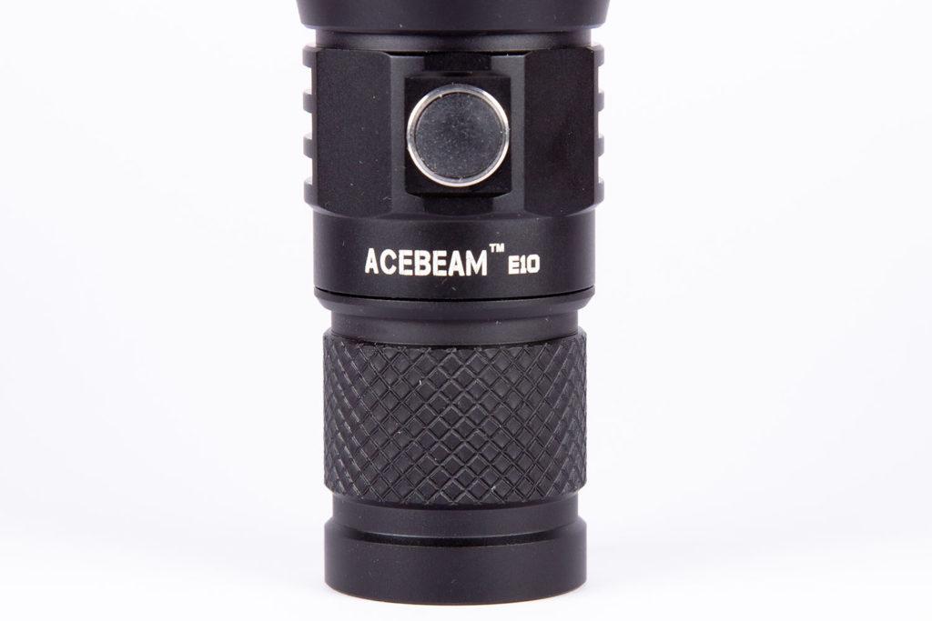 Acebeam E10 switch and logo