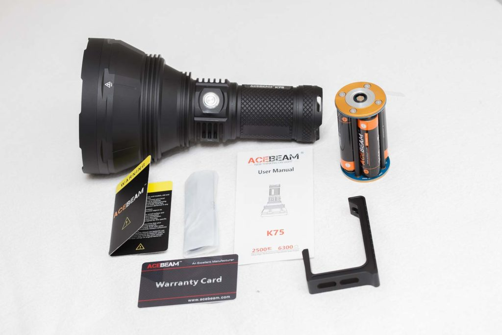 Accessories of the Acebeam K75
