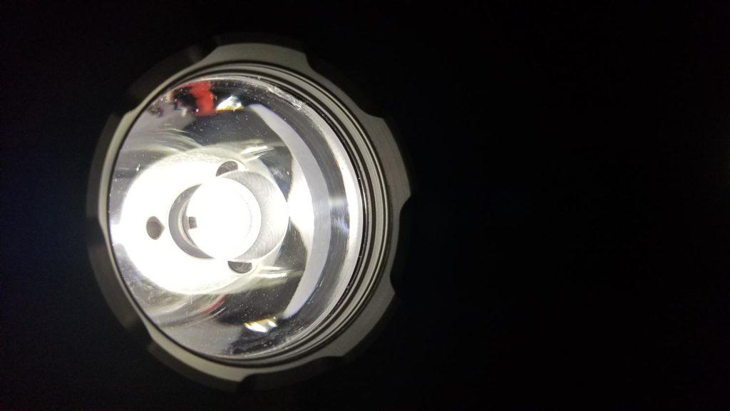 close up of TIR optic