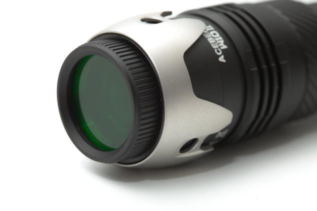 Green flashlight filter
