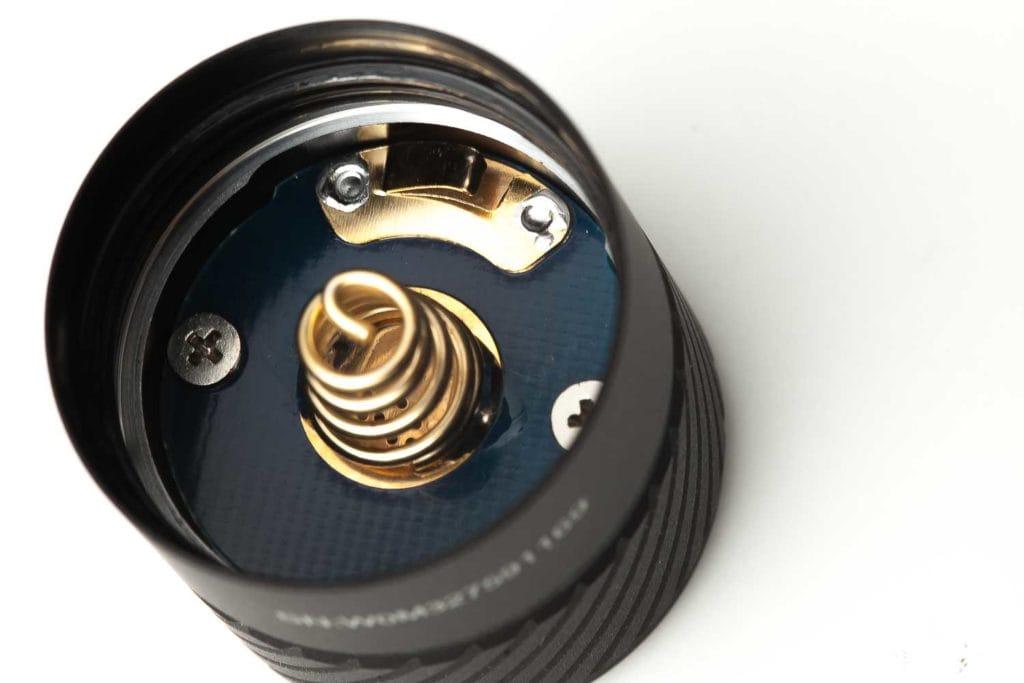 close up of tailcap