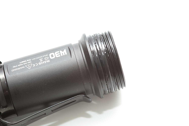 flashlight threadings