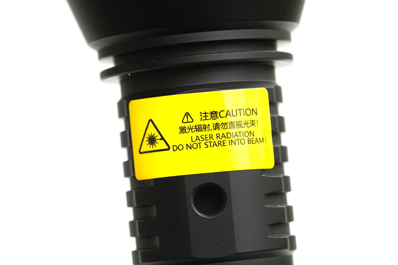 LEP flashlight caution