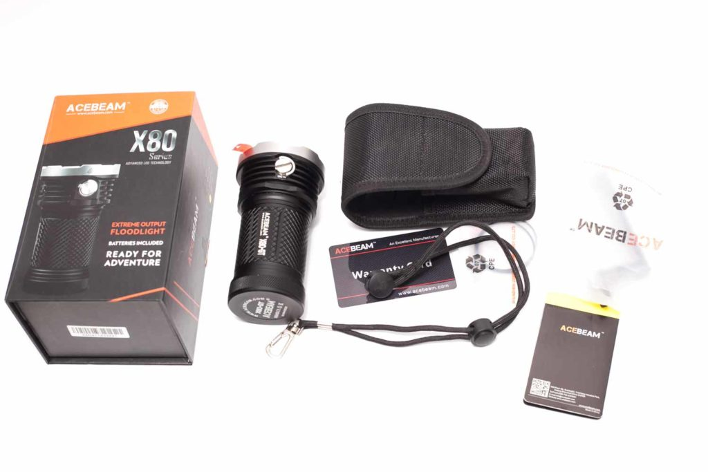 acebeam x80 gt package with accessories