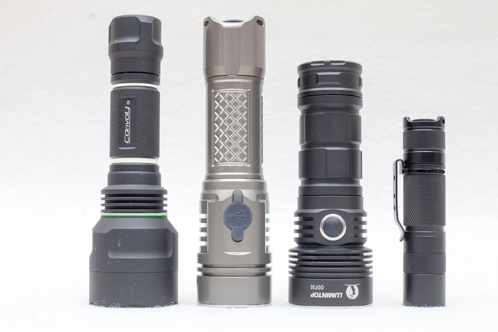 compraions 4 flashlights