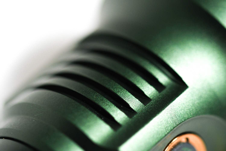 cooling fins on flashlight