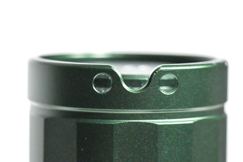 green flashlight lanyard attachment