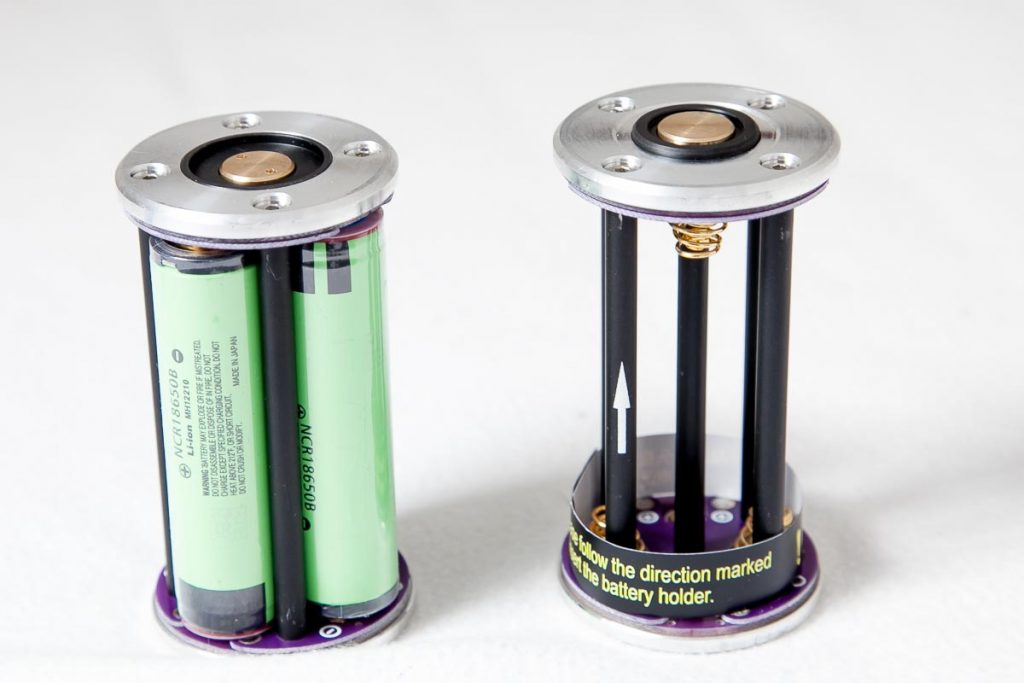 blf gt flashlight battery carrier with 4 batteries