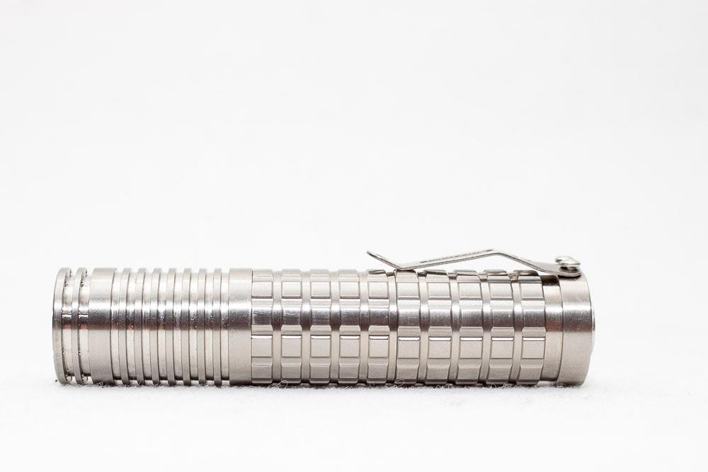18650 style Reylight titanium flashlight