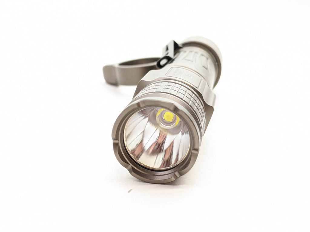 side view of flashlight