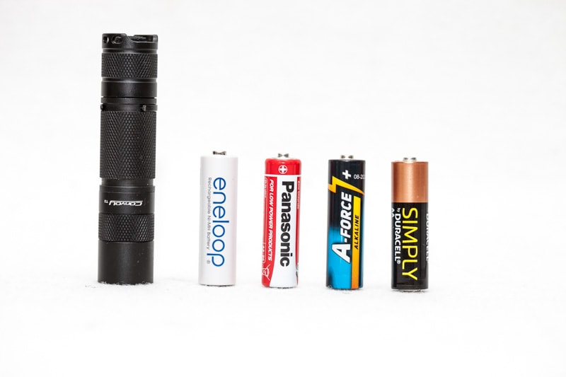 convoy t2 next to alkaline batteries