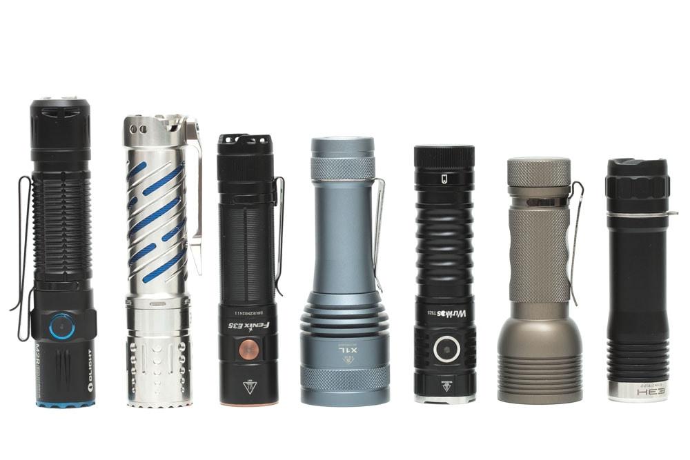 7 EDC flashlights in a row