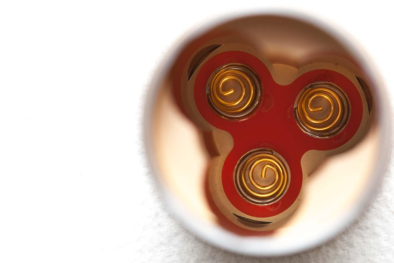 Golden battery springs in battery tube