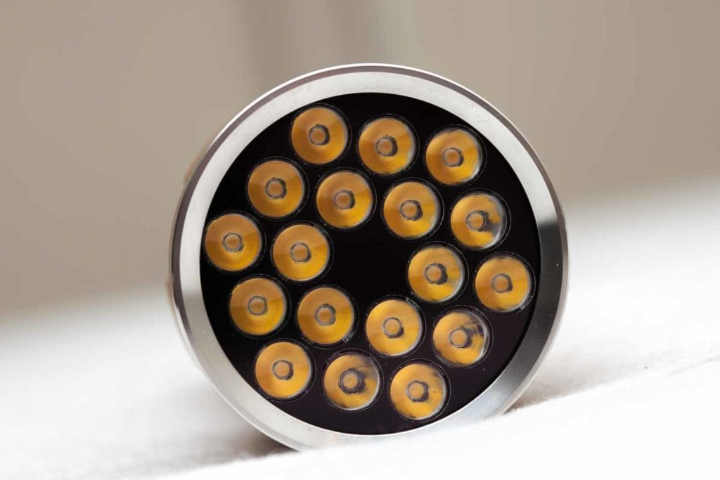close up of LEDs