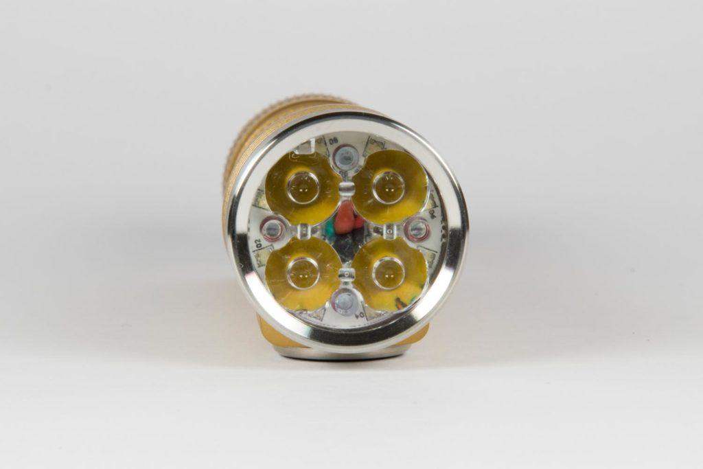 close up bezel and LEDs