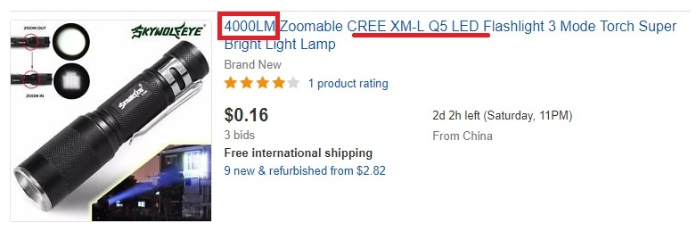 4000 lumens