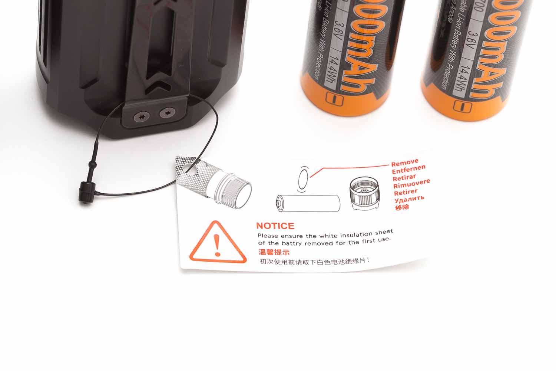 Fenix LR35R warning