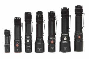 Fenix flashlight in a row
