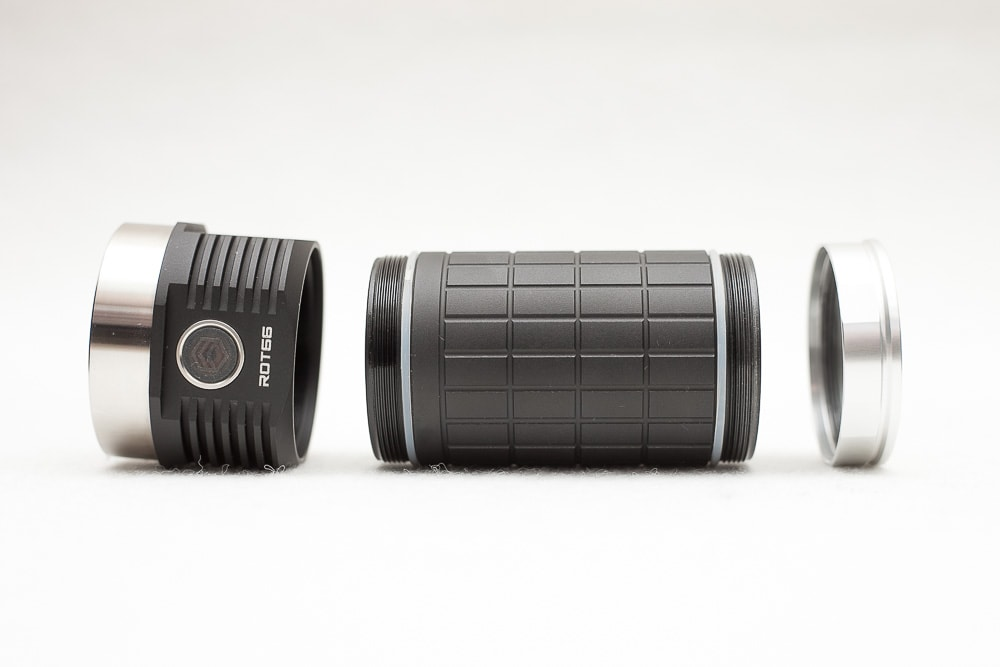 the rot66 flashlight in parts