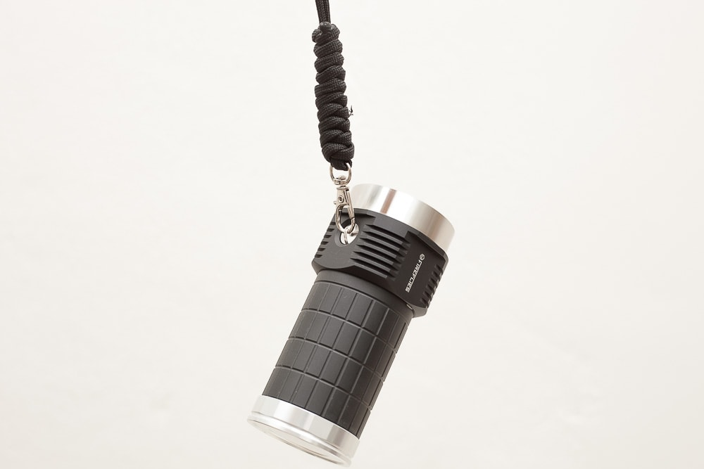 flashlight hanging of a strap
