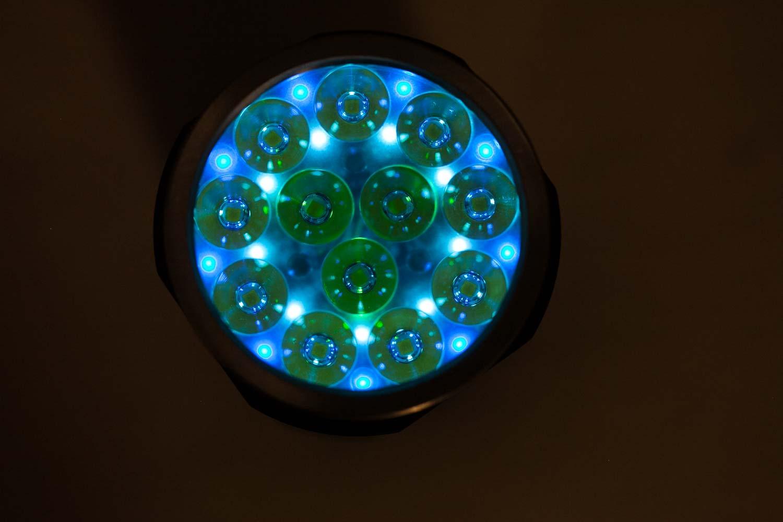 Fireflies blue and green AUX lights