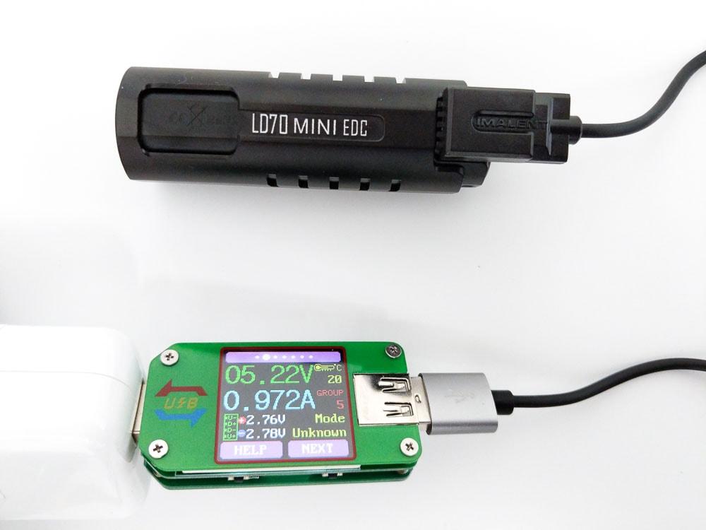 Imalent LD70 charging