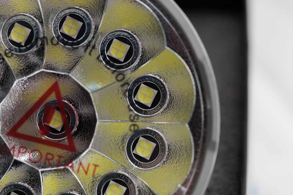 close up of XHP70 LEDs