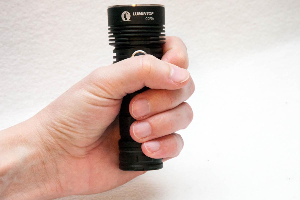 grabbing the flashlight