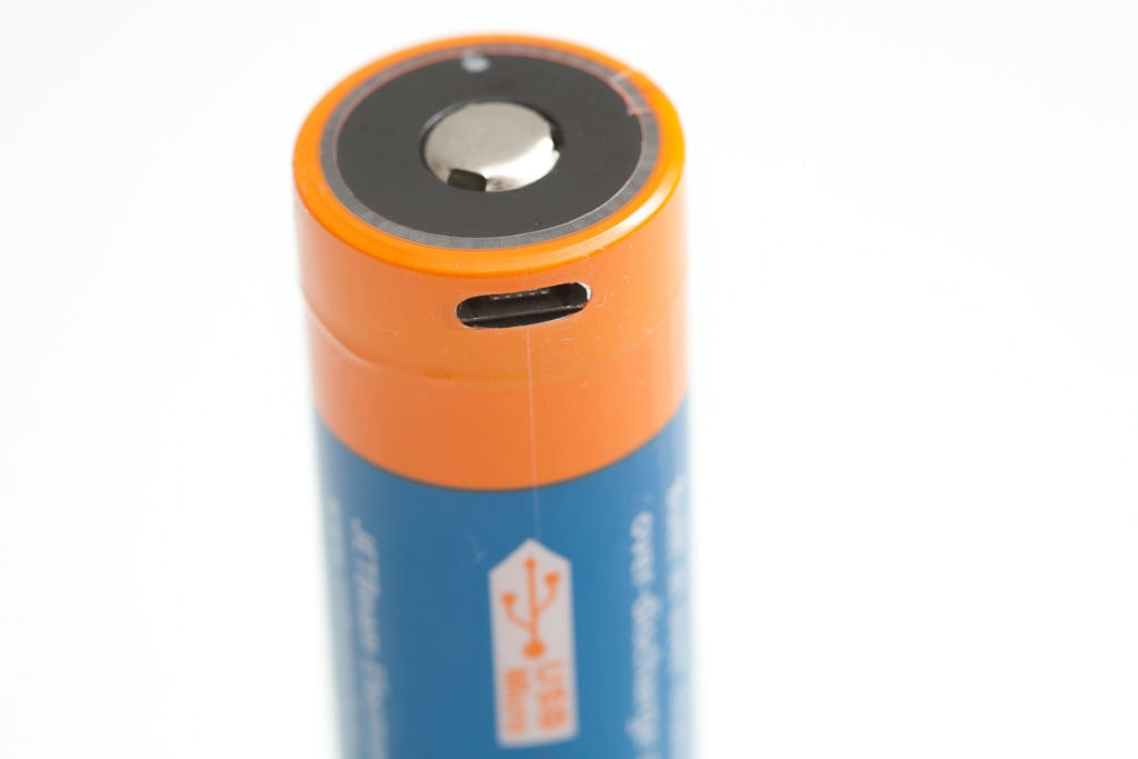 Jetbeam 21700 battery with USB port