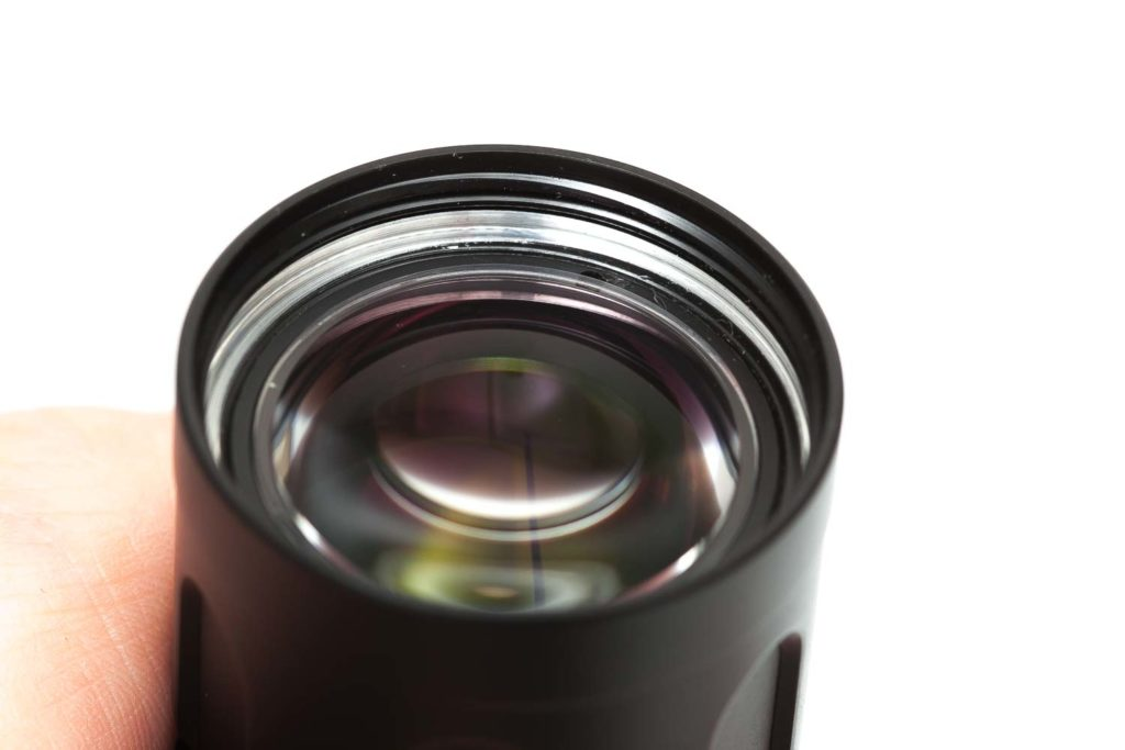 close up of front lens of Jetbeam M2S