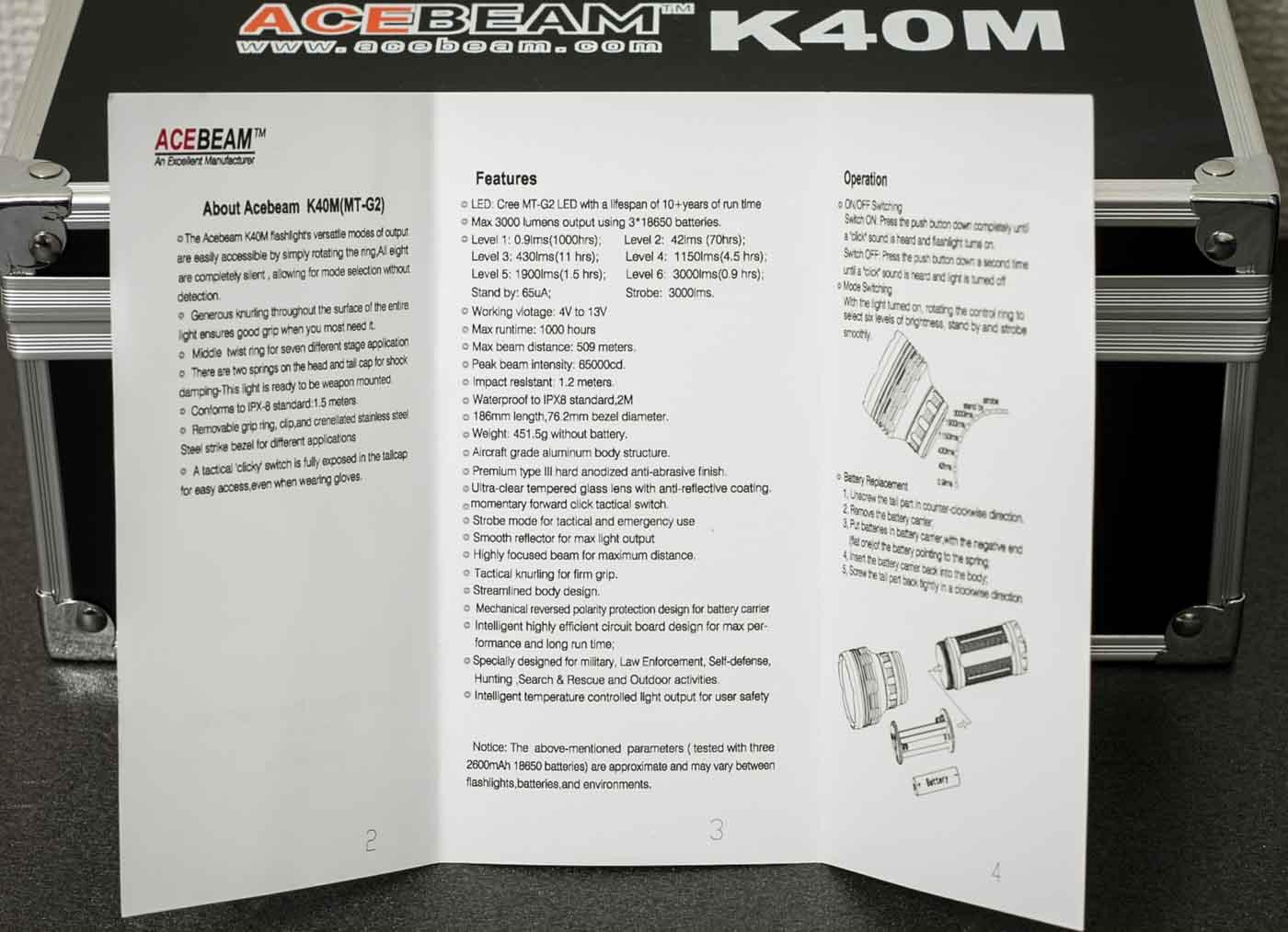 k40m manual