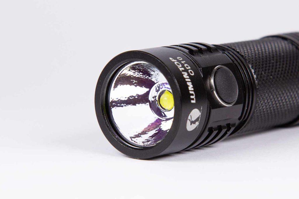 Lumintop OD10 bezel reflector and LED