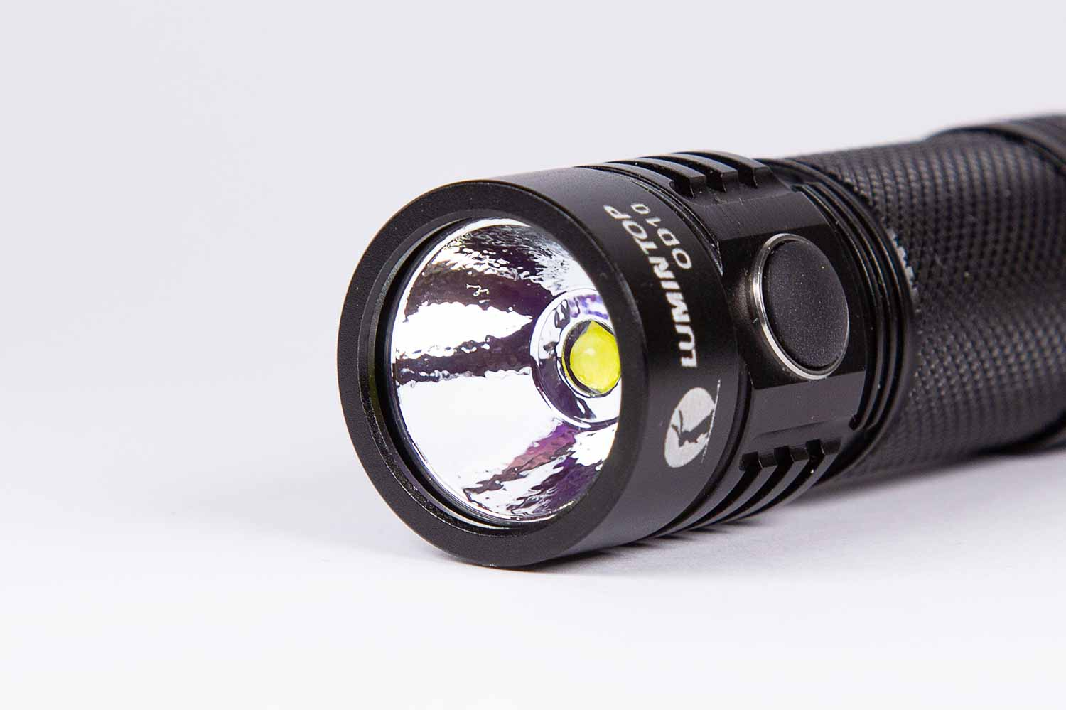 Lumintop OD10 bezel reflector and LED