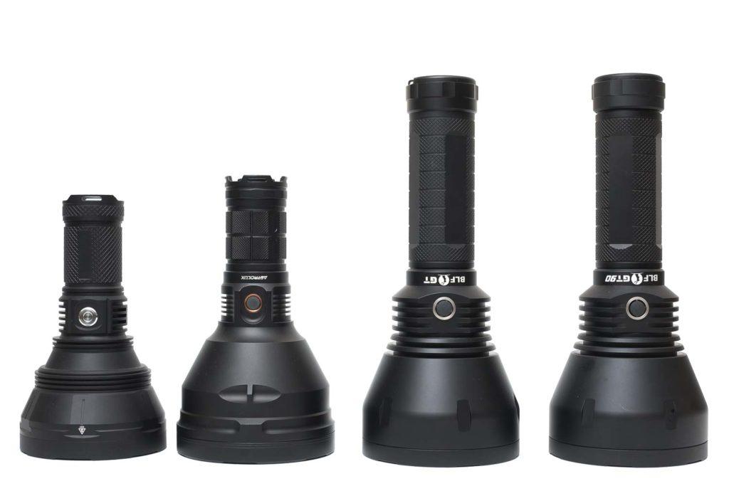 size comparison long range flashlights 3