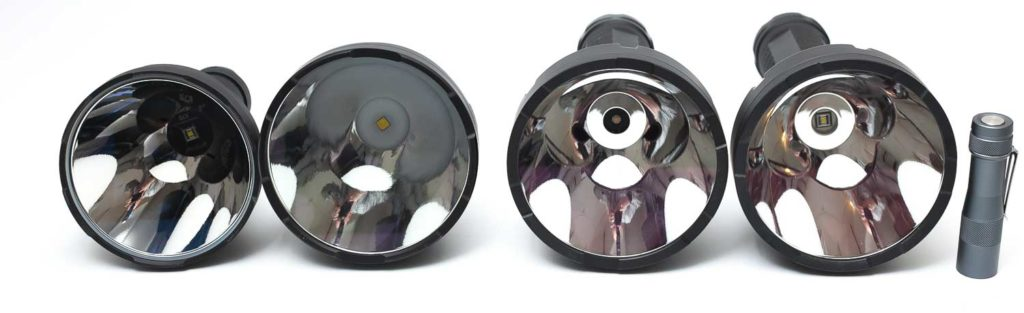 size comparison long range flashlights