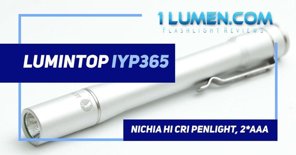 Lumintop IYP365 review image