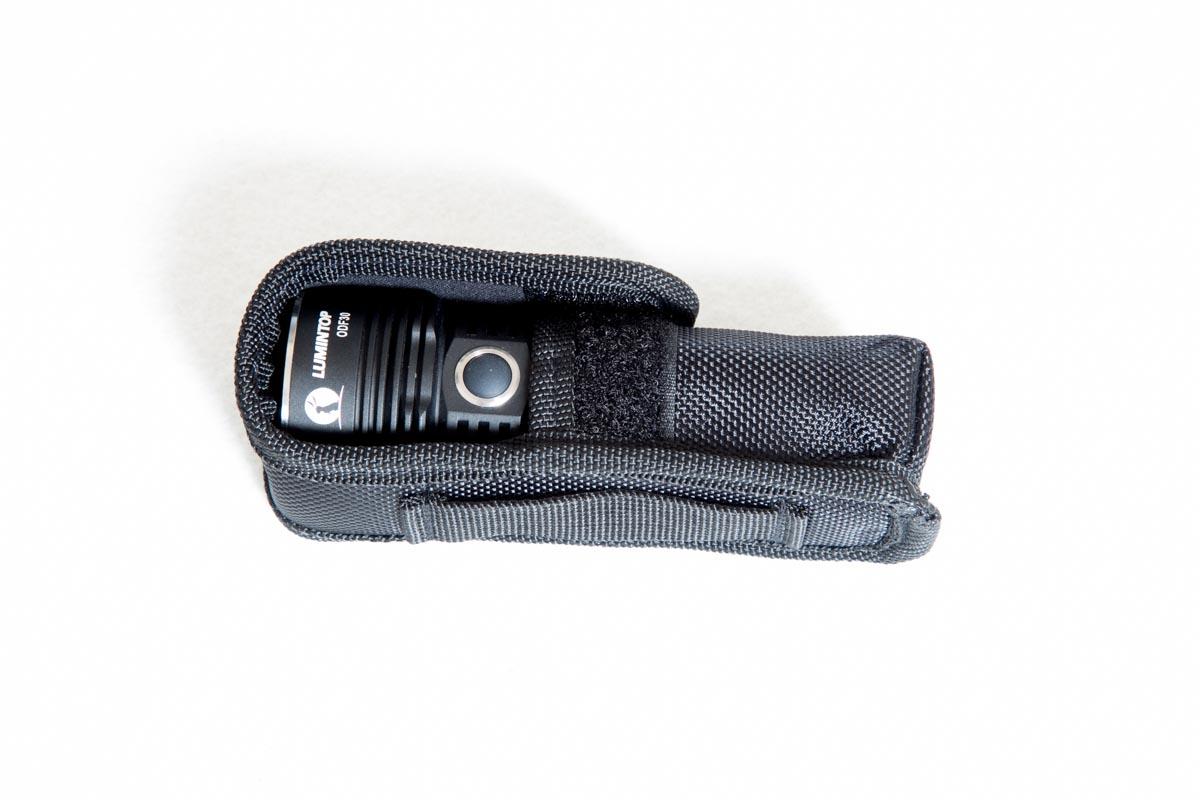 flashlight inside holster