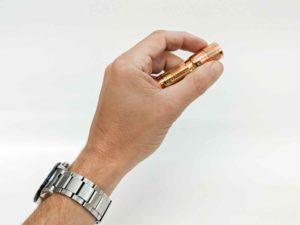 lumintop flashlight in hand