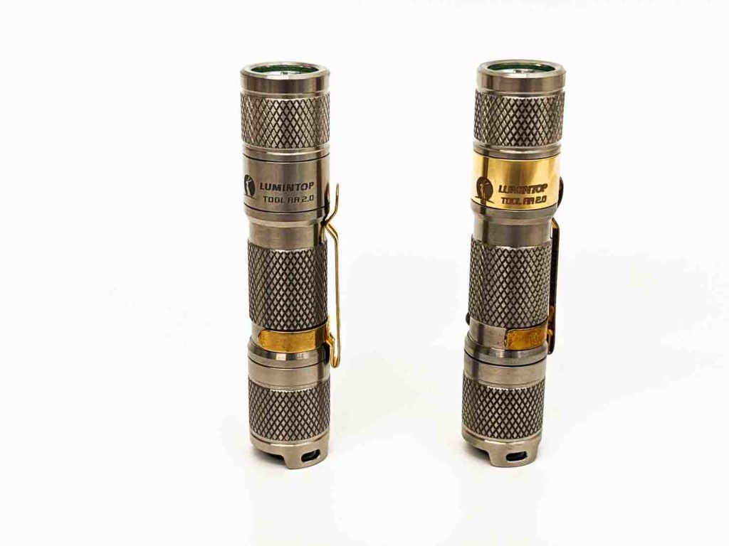 2 titanium flashlights