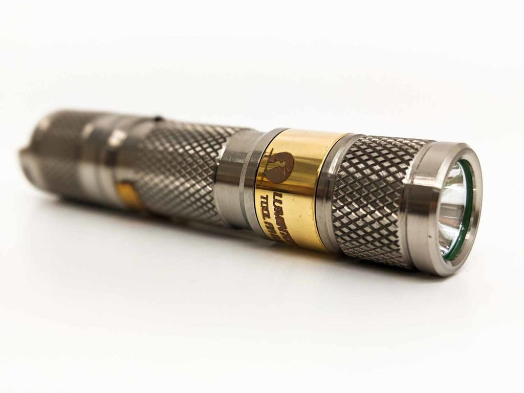 titanium flashlight side view