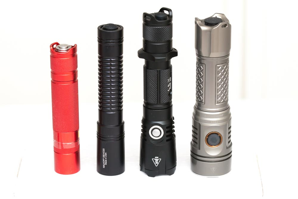 size comparison malkoff flashlight