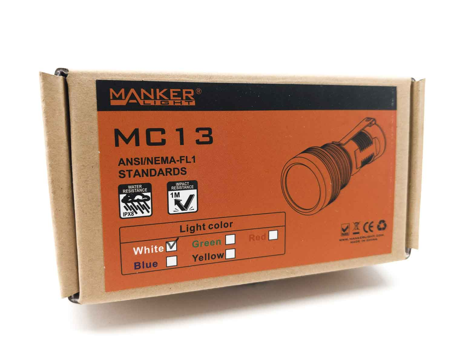 Manker flashlight package