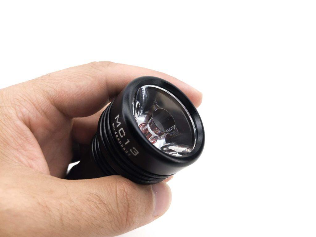 Manker flashlight in hand