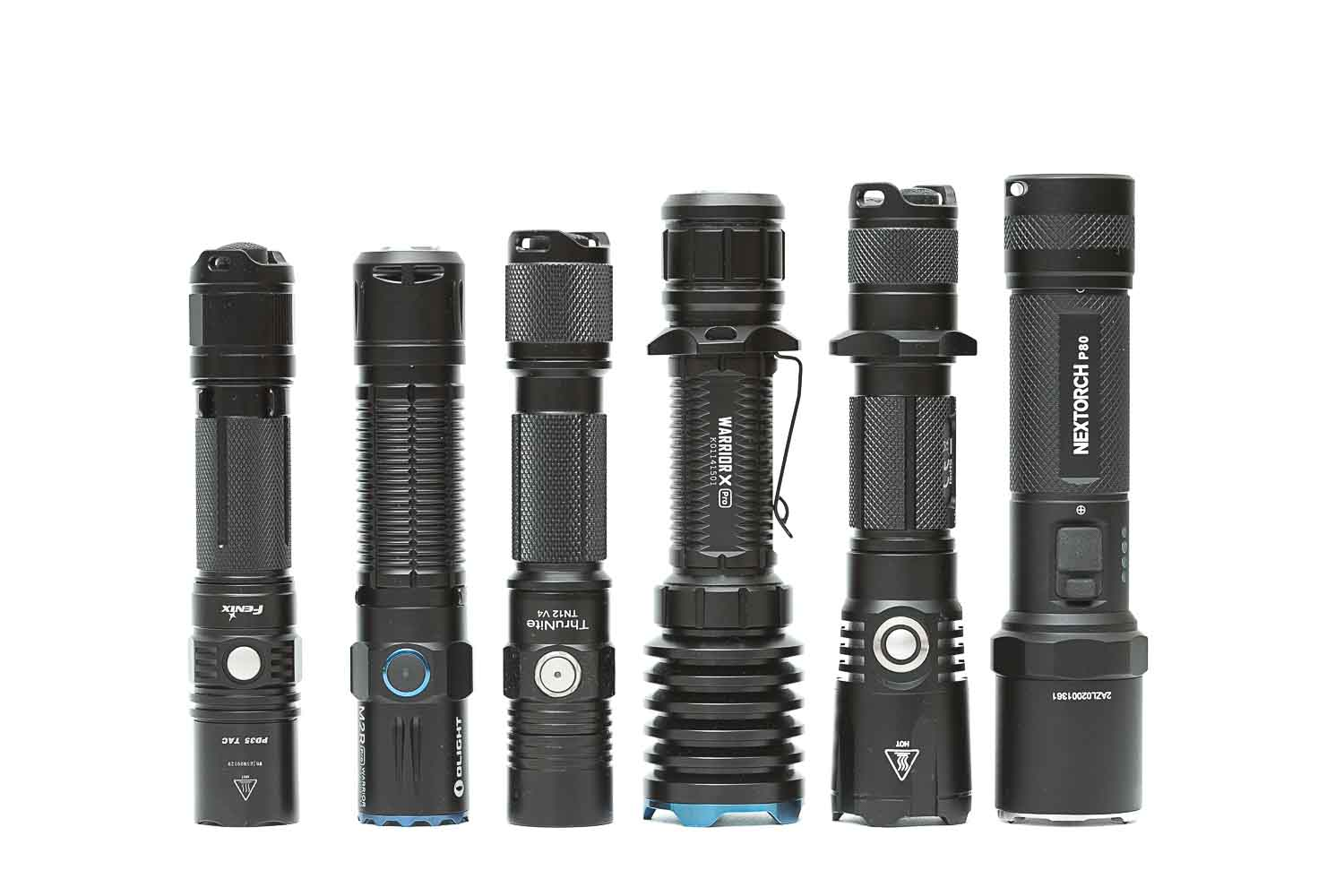 Nextorch P80 compared to other flashlights